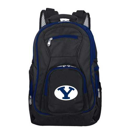 CLBYL708: NCAA Brigham Young Cougars Trim color Laptop Backpack